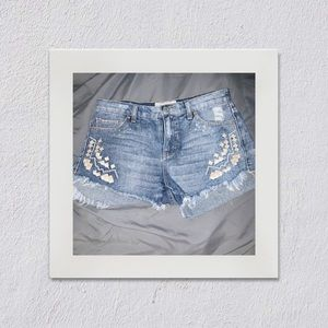 Free People - patchwork Jean shorts - 26 / XS